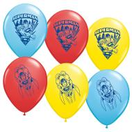 Latex Balloons-Superman-6pkg-12""