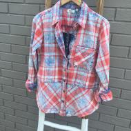 Dylan Red Blue Plaid Cruz Shirt