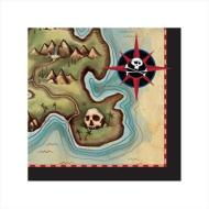 Pirate Map BEV Napkins 16pk