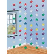 String Decor-Stars- Multi Color-Foil-6pk/7ft