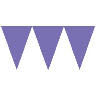 Banner-Paper Pennant-New Purple-24pk/7'' x 6''
