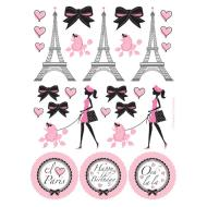 Stickers-Party in Paris-4 Sheets