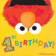Napkins-Bev-ELMO's 1st Birthday-36pk-2ply - Discontinued
