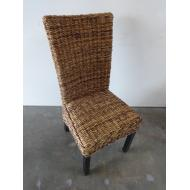 Woven Dining Chair w/ Black Legs