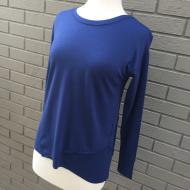 Asymmetrical Pullover in Bluestone