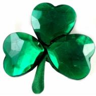 Pin-St. Patrick's Day Shamrock Jewel-1pkg