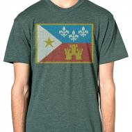 Acadian Flag Sweater Mens Tee