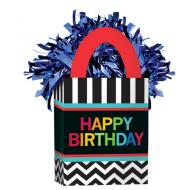 "Balloon Bag Weight-Celebration Happy Birthday-1pkg-5.5""x3"""