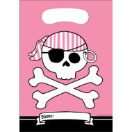 Loot Bags-Pink Pirate Party-8pkg