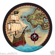 Plates LN-Pirate's Map (8pk)