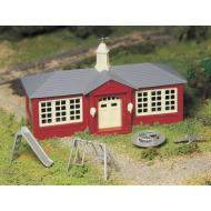 45611 Schoolhouse with Playground Equipment, Bachmann Plasticville