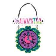 Hanging Clock Sign - Mad Tea Party