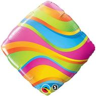 Foil Balloon - Wavy Colorful Stripes - 18""