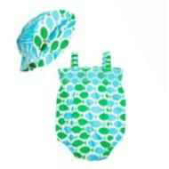 Pop Onesie 2 piece Set Joli Fish Turquoise