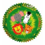 Baking Cups-Jungle Pals-50pkg-2""