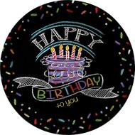 Plates-LN-Chalk Birthday-8pk-Paper - Discontinued