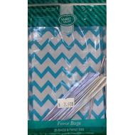 Favour Bag-Turquois and White-25pk/6''