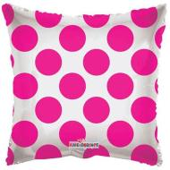 Foil Balloon - Hot Pink Circles - 18""