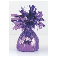 "Balloon Weight-Foil-Lavender-1pkg-4.5""x2.25"""