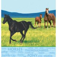 Tablecover-Rectangle-Wild Horses-Plastic