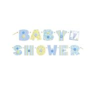 Banner-Baby Stitching Blue-Paper