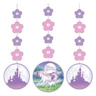 Hanging Cutouts-Unicorn Fantasy-3pkg-36""