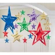 "Decorating Kit-Foil-Assorted Stars-16pcs-3.75""-12"""