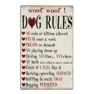 DOG RULES TIN SIGN