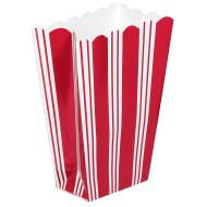 Popcorn Bag-Red Stripe-9pk/7.25'' x 5.25''  x 2.25''