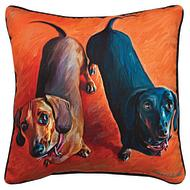 Double Doxies Pillow