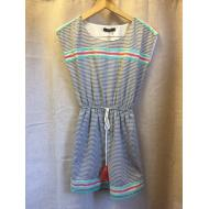 THML Striped Linen Short Sleeve Dress