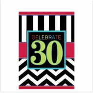 Table Cover- 30th Celebration-Plastic-54'' x 102''