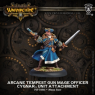 Warmachine: Cygnar - Arcane Tempest Gun Mage Officer