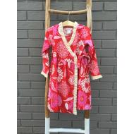 Eden Wrap Dress Red Pink Floral
