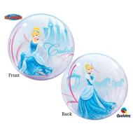 Plastic Bubble Balloon-Cinderella-1pkg-22""