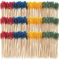 Frilled Toothpicks- Assorted Colours- 1000Pk/4""