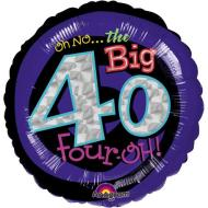 Foil Balloon - Oh No the Big 40 - 18""