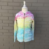 Ombre Rainbow Full Zip Hoody