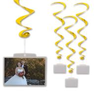 Danglers-Foil Swirl-Golden with Photo Pockets-3pkg-40""