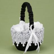 Basket-Black&White-Timeless Treasure Flower Girl-8'' x 6''