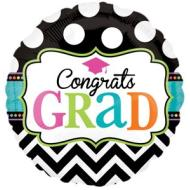 Foil Balloon - Congrats Grad, Dream Big - 18""