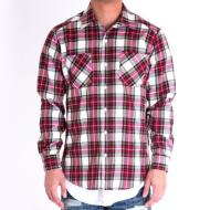 Side Zip Flannel/Red