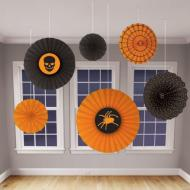 Danglers-Fan Decor-Halloween-Spider&Skull-6pk