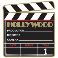 Clapboard Cutout- Hollywood-10.5''
