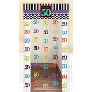 Doorway Curtain - 50th Birthday-77''