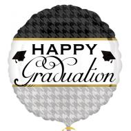 Foil Balloon - Elegant Happy Graduation - 18""
