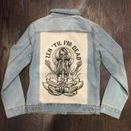 Womens - Om Boys - LT Jean Jacket - Oat Skeletom Patch