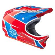 Troy Lee D2 Helmet Turbo (Red/White/Blue) MD/LG