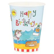 Paper Cups- Pirate Birthday- 8pk/9oz
