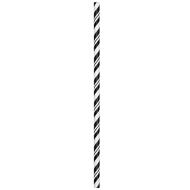 Paper Straws-Striped Black-24pkg-7.75""
